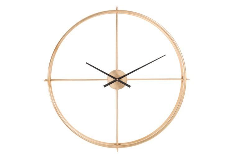Zlaté kovové nástěnné hodiny Metgo- Ø 80*9 cm