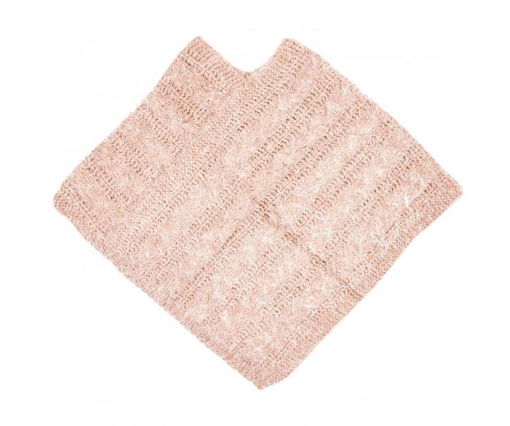 Hebké růžové pončo - 60*65 cm