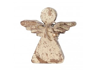 Dřevěný anděl pozlacený - 14*4*14 cm