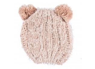 Hebká růžová čepice dětská - 20*18 cm