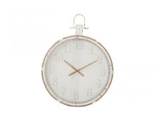 Nástěnné bílé kovové hodiny Marco - Ø 67*90 cm