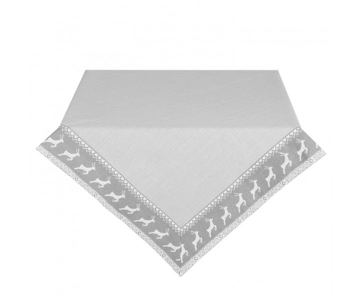 Ubrus na stůl Nordic Grey - 150*150 cm