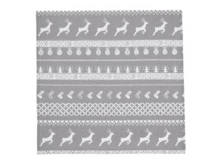 Textilní ubrousky Nordic Grey - 40*40 cm- sada 6ks