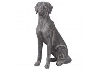 Dekorace sedící pes  - 43*22*65 cm