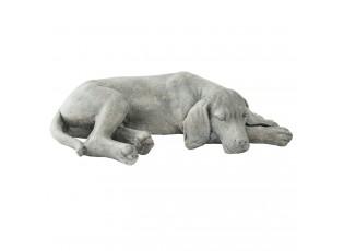 Dekorace ležící pes  - 58*35*15 cm