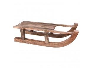 Dekorace dřevěné sáně  - 62*23*19 cm