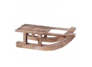 Dekorace dřevěné sáňky  - 47*22*17 cm