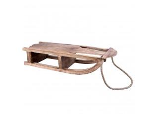 Dekorace dřevěné sáňky  - 70*25*16 cm