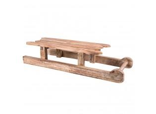 Dekorace dřevěné sáňky  - 70*24*15 cm