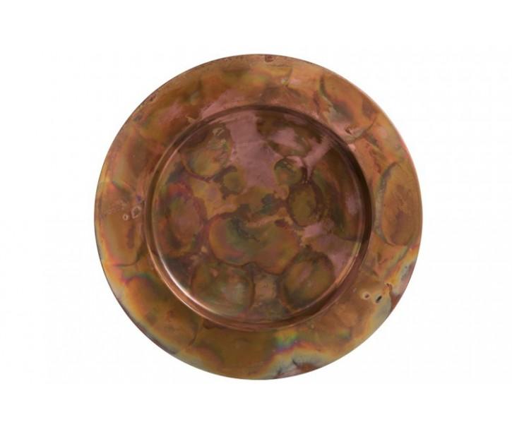 Dekorační servírovací talíř Copper Antique - Ø 36*1,5 cm