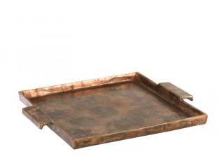 Servírovací podnos Copper Antique - Ø 51 * 11 cm