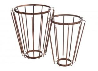 Set odkládacích stolků Copper Antique - Ø 53 * 65 cm