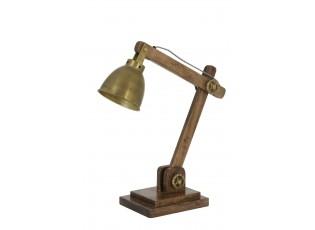 Dřevěná stolní lampička 50*15*45 cm