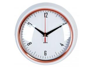 Nástěnné retro hodiny bílé  - Ø 24*6 cm / 1xAA