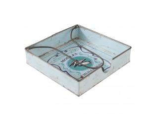 Plechový zásobník na ubrousky Moules - 18*18*4 cm