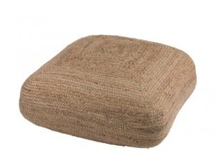 Puff Square jutový - 80*80*20 cm
