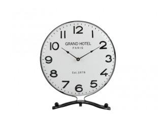 Kovové stolní hodiny s číslicemi - Ø 35*8*40cm