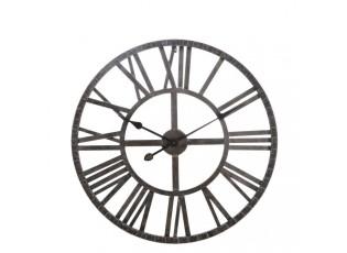 Kovové  hodiny s římskými číslicemi  - Ø 60 cm