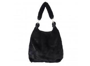 Černá chlupatá kabelka Fluffy - 37*43 cm