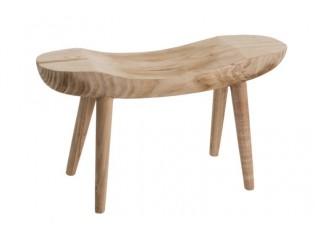 Dřevěná lavice Paulownia přírodní - 80*30*43 cm