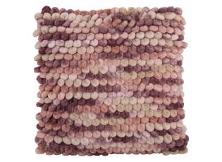 Růžový polštář s výplní Grazia 45*45 cm