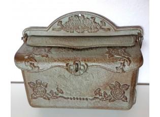 Litinová poštovní retro schránka - 30*11*26 cm