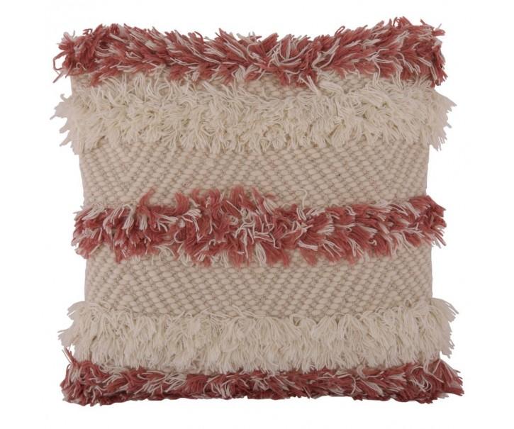 Růžový polštář s výplní Aida 45*45 cm