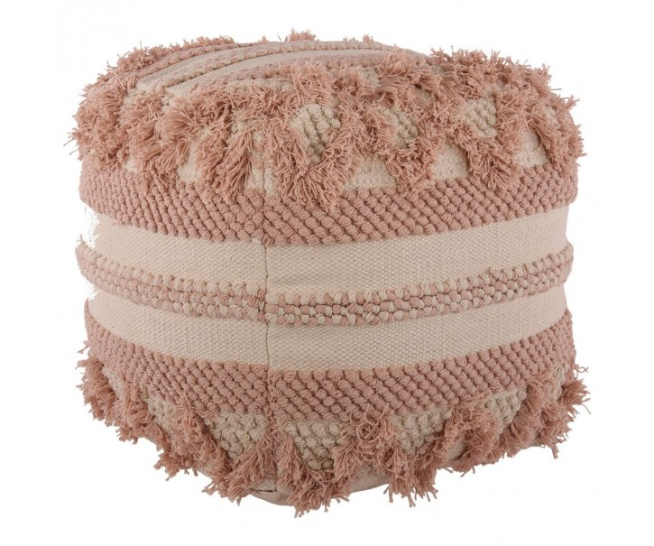 Růžový puff Tobia - 45*45*45 cm