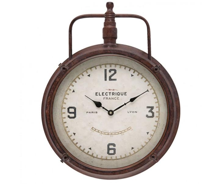 Kovové nástěnné hodiny Electrique - 43*9*53 cm / 1xAA
