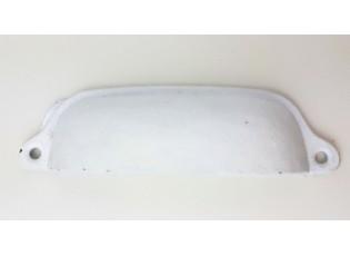 Bílá litinová úchytka - 11*3*2 cm