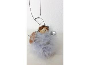 Anděl s peříčky na pověšení  - 10*6*8 cm