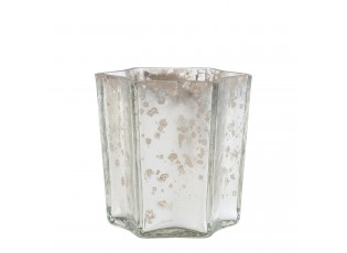 Stříbrný svícen na čajovou svíčku - 7*7*10 cm
