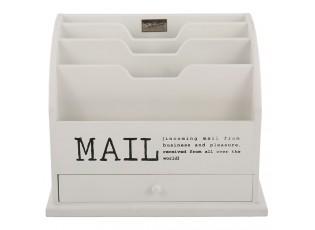 Bílý box na poštu s nápisem Mail - 36*23*29 cm