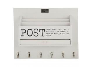 Bílý box na poštu na zeď s nápisem Post -  38*30*11 cm