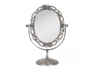 Kosmetické zrcadlo s růžičkami a kamínky -  18*10*26 cm