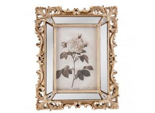 Fotorámeček zlatý antique s ornamenty -  19*2*24 cm / 10*15 cm