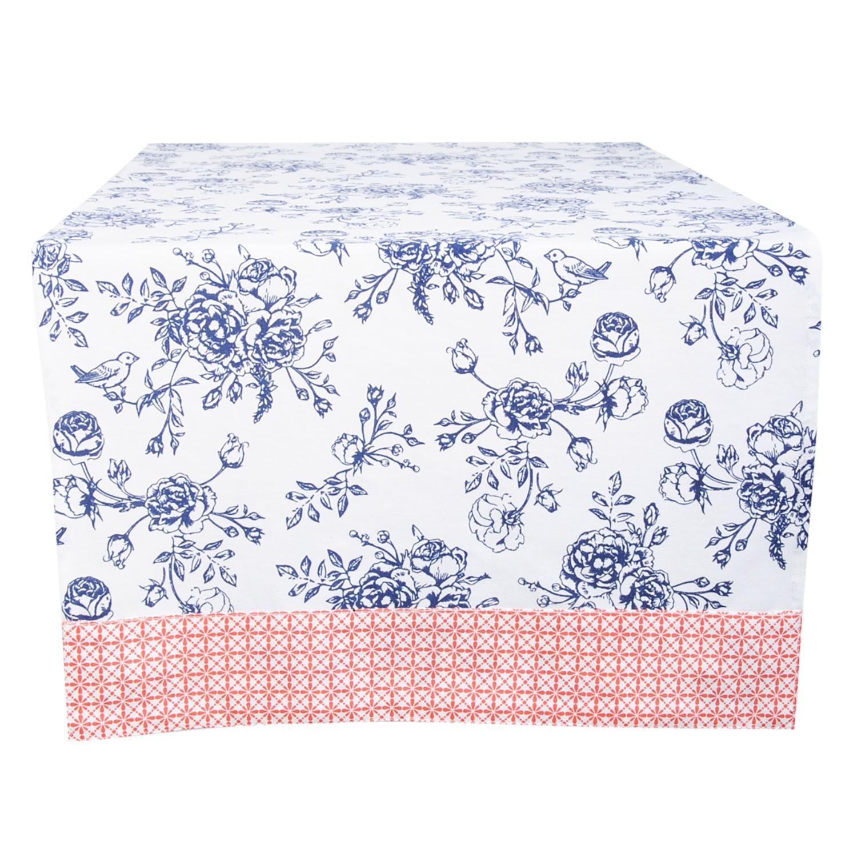 Běhoun na stůl Rose Garden Blue - 50*140 cm