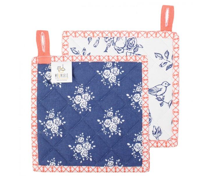 Chňapka - podložka Rose Garden Blue -  18*18 cm