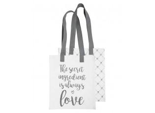 Látková taška What is done in Love -  30*40 cm