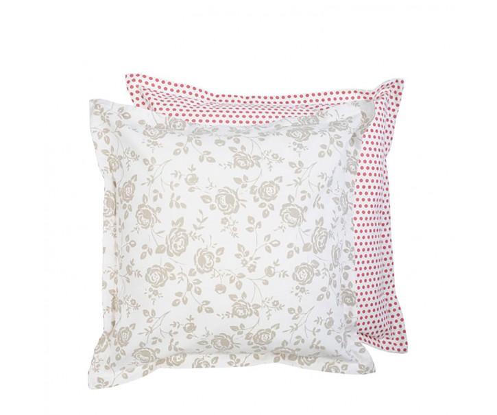 Povlak na polštář Dots & Roses  -  50*50 cm