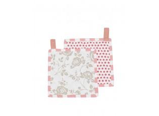 Chňapka - podložka Dots & Roses  -  18*18 cm