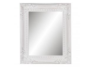Nástěnné dřevěné zrcadlo s patinou -  44*4*54 cm