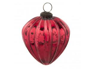 Vánoční ozdoba červená  -  Ø 9*10 cm