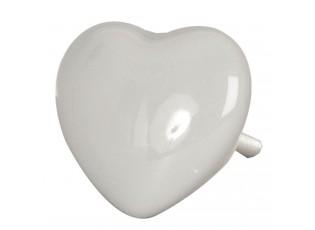 Úchytka šedé srdce - Ø  3.5*4 cm