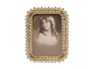 Zlatý fotorámeček s ornamenty - 19*14*1 cm
