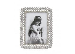 Stříbrný fotorámeček s ornamenty - 12*16 cm