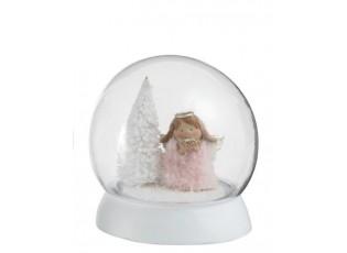 Svítící koule s andílkem - Ø 13*14cm