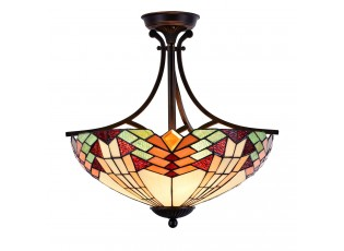 Stropní světlo Tiffany  Montaq -  Ø 51 cm