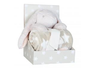 Plyšový králíček s plédem - 75*100cm