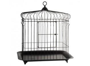 Černá kovová ptačí klec - 47 * 33 * 51 cm